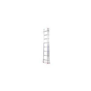 Escada tripla com 3x3mts, com degrau redondo.