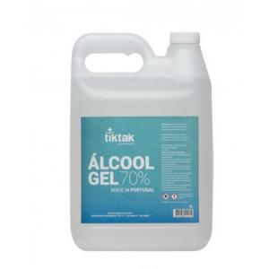 Alcool gel com 70% vol. Embalagem 5Lts.