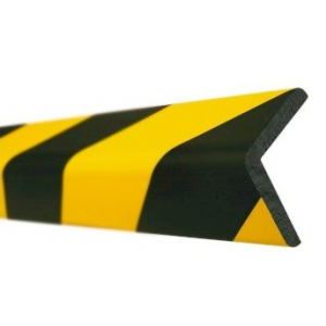 Perfil angular Amarelo/Preto em poliuretano,dim:35x45x1000mm