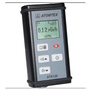 Monitor de radiação gama e beta, portátil, digital.