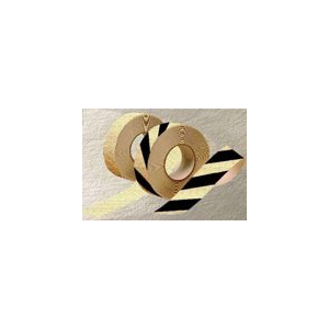 Fita amarela/negro fotoluminiscente anti-derrapante,r.18,3 m