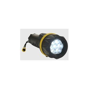 Lanterna Amarelo/Preto em Borracha 7 LED Autonomia 8h