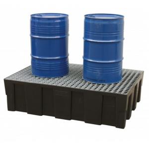 Bacia de retençao p/2 bidoes, capacidade de 250 lts