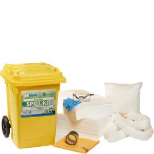 Kit compacto Anti-Derrame p/Oleo e Hidrocarbonetos para 80 l