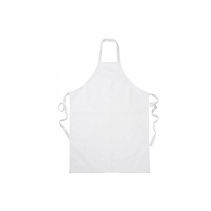 Avental branco em PU 120x100, 630gr/m2. Fabrico Nacional.