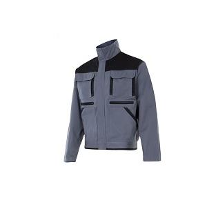 Blusão bicolor, em sarja 65% poliester/ 35% algodão, 275grs.