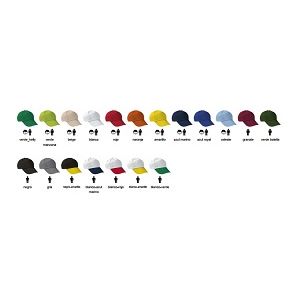 Boné 5 painéis 100% algodão sarja 175 grs/m2 aperto velcro