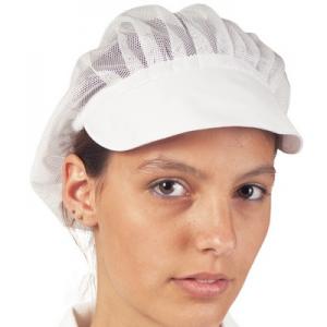 Touca em rede (tecido) com pala de cor variavel