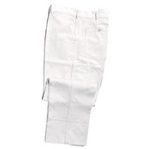Calça I.100% Algodão na cor Branca, c/ um bolso lateral