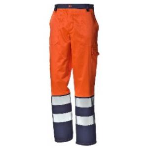 Calça alta visib.INVERNAL laranja/azul-amarelo/azul EN 471