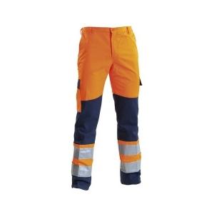 Calça de A.V Laranja/Azul Marinho poliester/algodão, 260grs