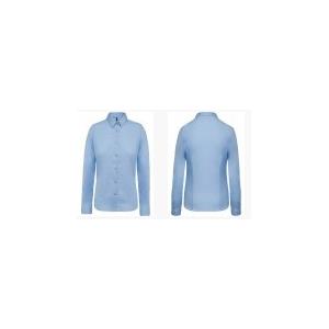 Camisa de senhora em 100%  algodão popeline manga comprida