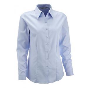 Camisa de senhora de m/comprida, 84% alg/16% pol. 130 g/m².