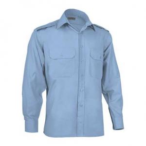 Camisa de manga comprida, 120 grs com aplicação para divisas
