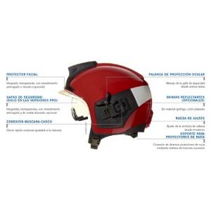 Capacete Drager modelo HPS7000 PRO com bandas reflectoras