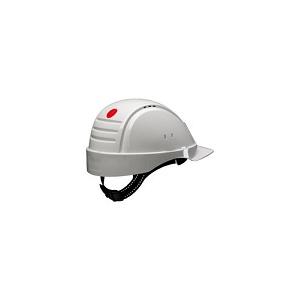 Capacete G2001 Branco sem ventilação com fixação de roquete