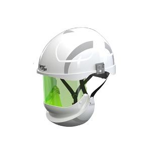 Capacete c/ isolamento electrico classe 2 e protecção facial