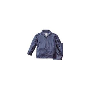 Casaco Impermeavel em Nylon Azul.