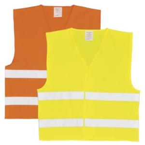 Colete alta visibilidade c/2faixas horiz. Laranja ou Amarelo