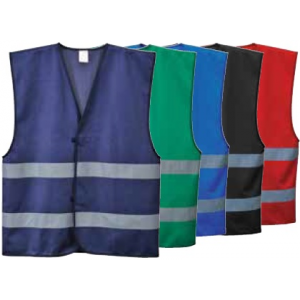 Colete reflector com faixas reflectoras, disp.diversas cores