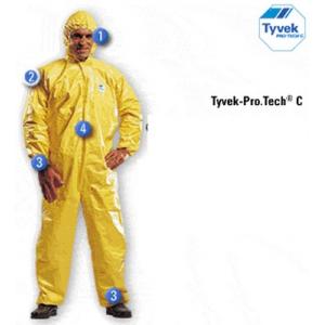 Fato Macaco TYCHEM, Protecção Quimica Tipo 3,4,5,6