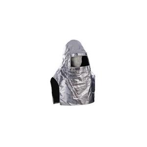 Capuz S/Visor, com proteção peito. Aluminizado. Até 1000ºC.