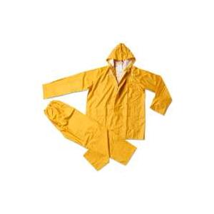 Fato Impermeavel Economico em PVC/Poliester de cor Amarelo.