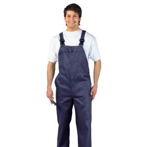 Jardineira 100% algodão pré-encolhido disp. em Azul Marinho