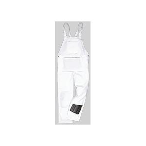 Jardineira de pintor Bolton, 100% algodão cor branca