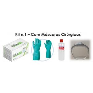 Kit de protecção a COVID-19 com máscaras cirurgicas