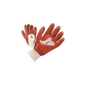 Luva PVC Vermelha c/ Tratamento anti-bacteriano SANITIZED.