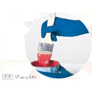 Luva descartavel super resistente latex azul sem po,cx 50 ud