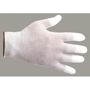 Luva anti-estatica com poliuretano na ponta dos dedos.