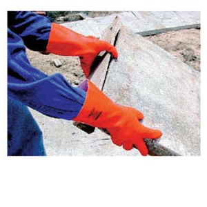 Luva de látex laranja,forro interior algodao,rugosa RF9 OR