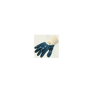 Luva recoberta a Nitrilo Azul com Punho Malha Elástico a 3/4