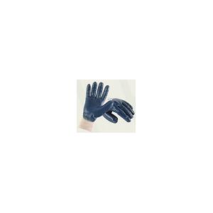 Luva Nitrilo Azul com Punho Malha a 3/4, Dorso Arejado
