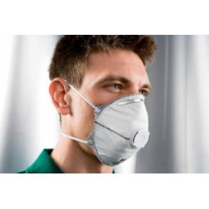 Máscara descartável c/ vávula FFP2 c/carvão activo. Emb 20un