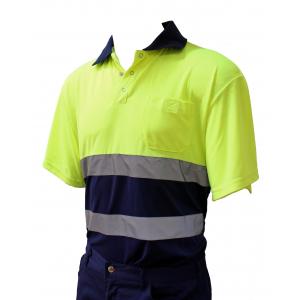Polo alta visibilidade bicolor Athens Safety Gear