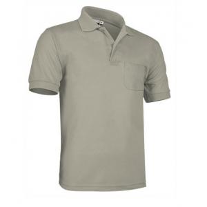 Polo m/curta 100% algodão, bolso no peito esquerdo cosido.