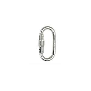 Mosquetão em aço,c/ abertura rosca de 16mm e número de série