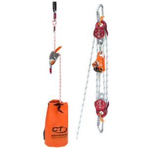 Kit de Resgate com descensor e desmultiplicador c/corda 30 m