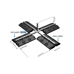 Ponto de ancoragem móvel em aço zincado galvanizado