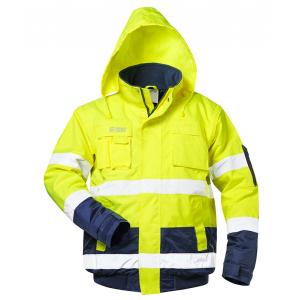 Blusão bicolor de Alta Visibilidade Amarelo/Marinho