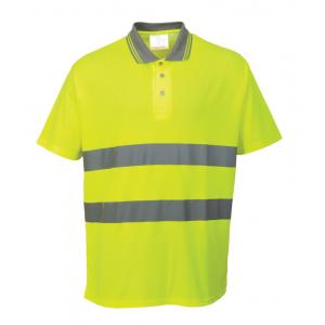 Polo de alta visibilidade amarelo ou laranja c/faixas reflec