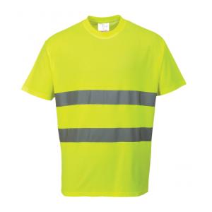 T-Shirt de alta visibilidade amarelo ou laranja c/faixas ref