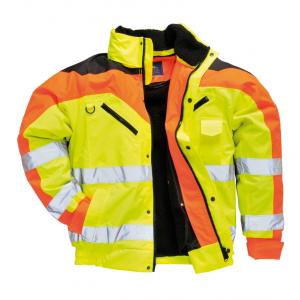 Blusao Aviador tricolor de Alta Visibilidade Contrast Plus