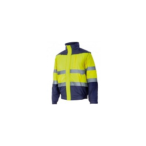 Blusão bicolor alta visibilidade acolchoado