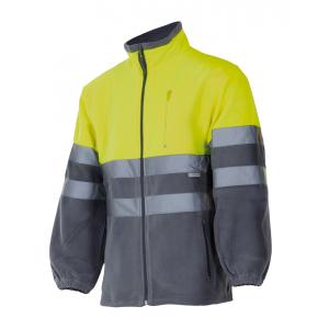 Casaco bicolor alta visibilidade em malha polar,EN ISO 20471