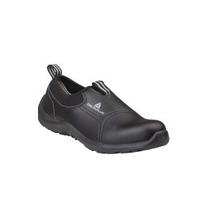 Sapato Preto Miami S2 SRC em microfibra e pu sem cordões
