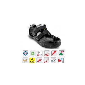 Sandália unisexo pele/camurça cor preta Lavoro Urban 294 ESD